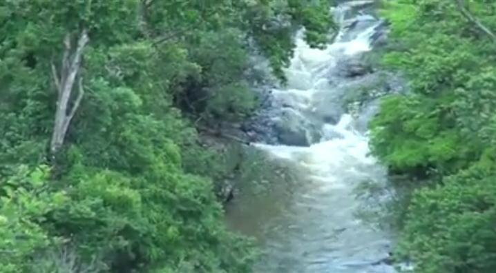Cascada La Bujona en la comarca El Pájaro