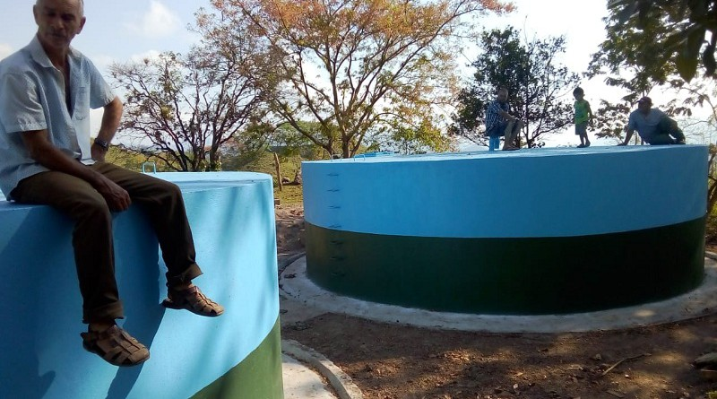 Las familias de la comunidad Kubali en Waslala poseen un nuevo sistema de agua potable.