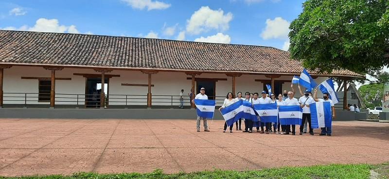 Servidores públicos en el Monumento Histórico y Memorial Casa Hacienda de San Jacinto