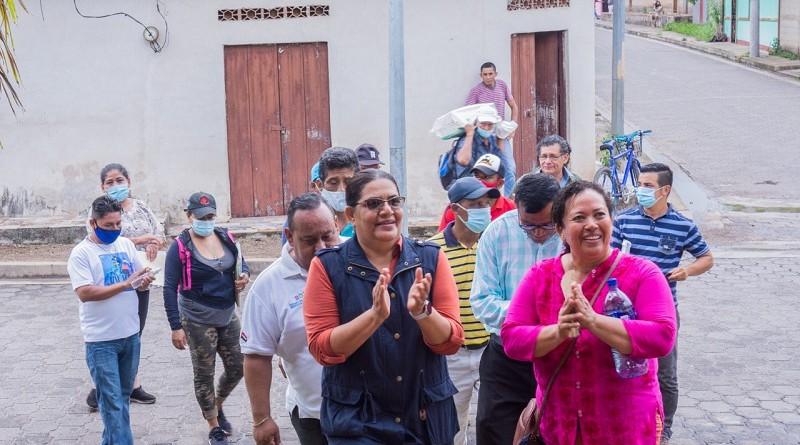 Presidenta del Inifom en Palacaguina donde Miguel Ángel Ortez dio su vida por la Soberanía Patria