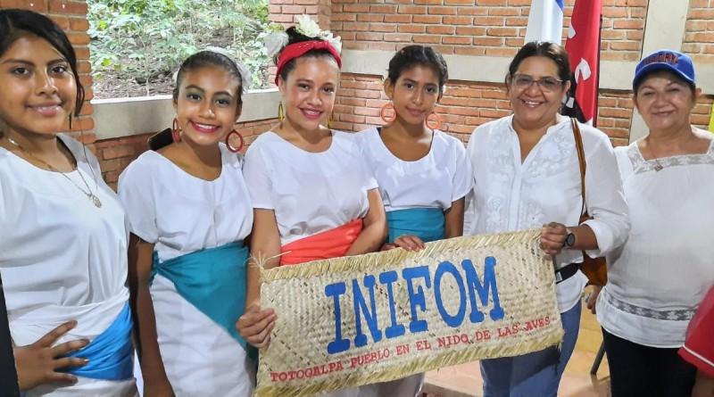 La titular de Inifom continuó labor en Totogalpa municipio del Geo Parque Río Coco