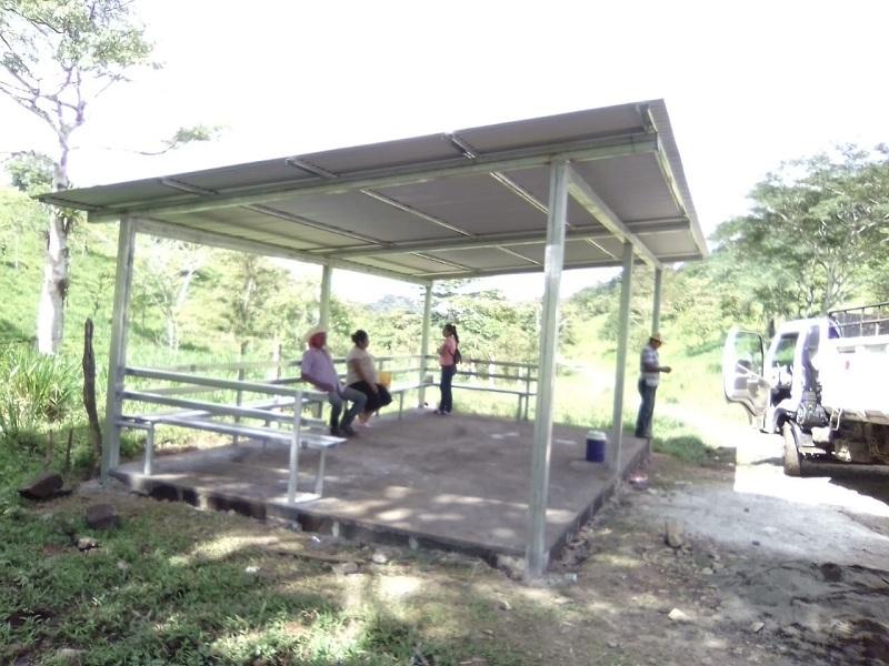El gobierno del poder de Villa Sandino, ciudadano construyó una caseta multifuncional