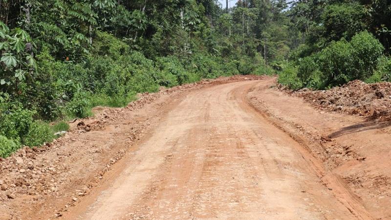 La alcaldía de Bonanza restauró cinco kilómetros de caminos rurales en la comunidad Musawas.