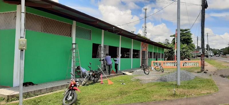 El Centro Recreativo de la Zona #2 fue mejorado por el gobierno local en El Coral.