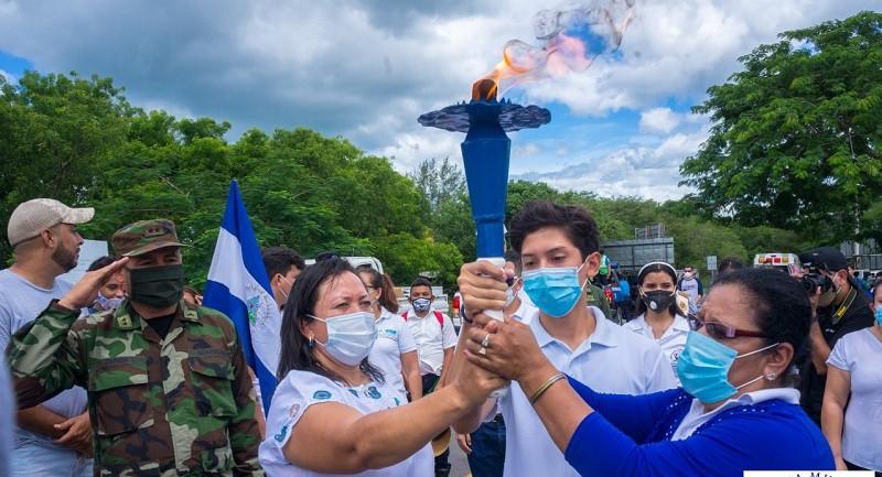 Recibimiento de la antorcha de la libertad en Palacaguina