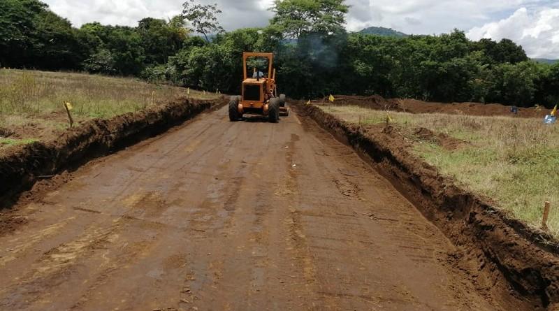 En Ticuantepe, se construyeron nueve calles en la lotificación del barrio Medardo Andino, del Proyecto de viviendas Bismarck Martínez.