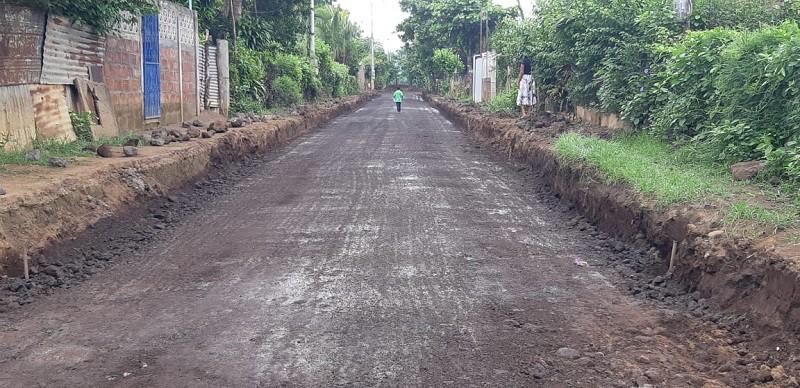Quezalguaque: Un kilómetro en el barrio Paz y Reconciliación.