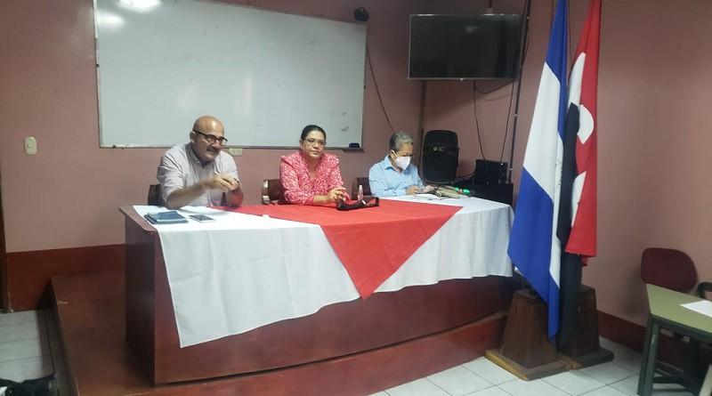 Presiden la presidenta ejecutiva del Inifom, Guiomar Irías, Alcaldesa Aura Lila Pasilla y secretario político departamental del FSLN, José Manuel Espinoza