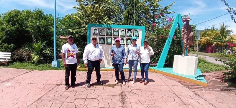 Galería de Héroes y Mártires  en la Plaza Sandino