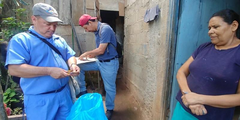 Repuesta rápida de medicación profilactica  contra leptospira y eliminación de criaderos en barrios afectados por las lluvias  en Waslala