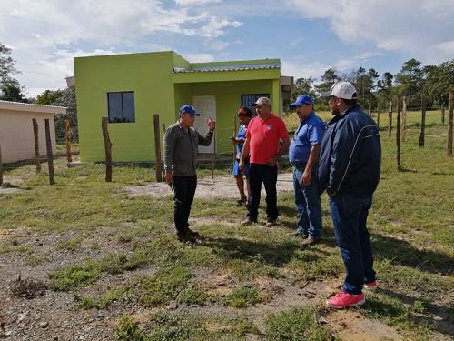 Ltificación del Programa Bismarck Martínez  de 21 terrenos. En la actualidad se han construído seis viviendas