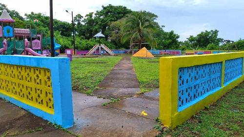 Mejoramiento de Parque municipal, en Corn Island.