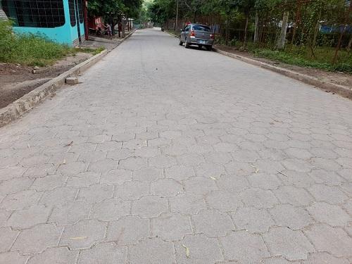 En el barrio El Esfuerzo #1 de Condega, las familias inaugurarán tres nuevas calles con adoquín.