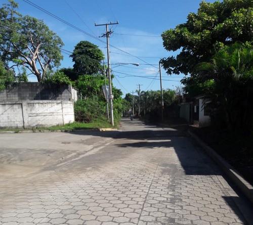 Protagonistas de la comunidad Gaspar García Laviana de Ticuantepe tienen dos calles nuevas.