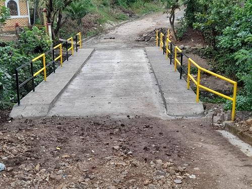 Condega: Puente en el barrio Esfuerzo N°1.