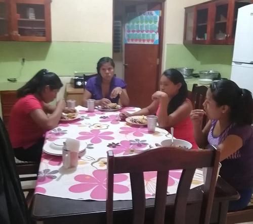 Comedor de la casa materna Blanca Arauz