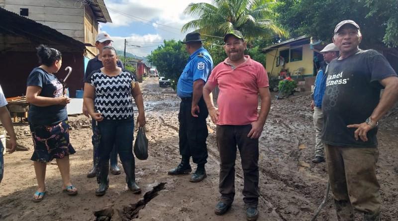 Alcalde de Waslala visita con miembros del Comupred  las comunidades San Pablo Kubali, Puerto Viejo y  Naranjo Central