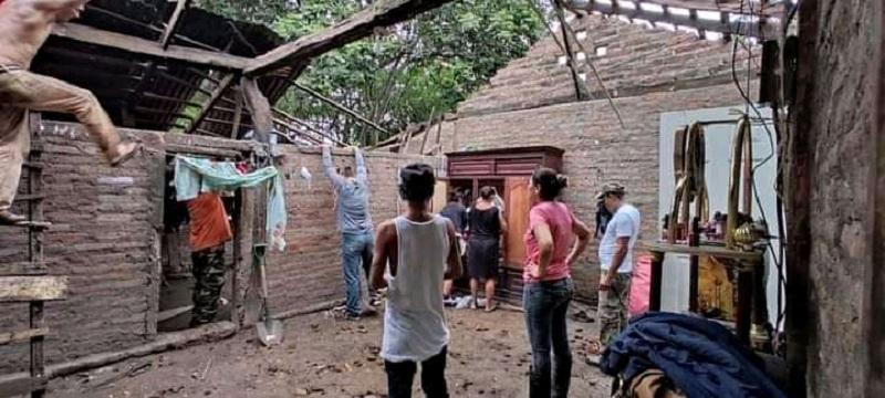 Una vivienda de la comunidad Quebrada Honda de San Isidro