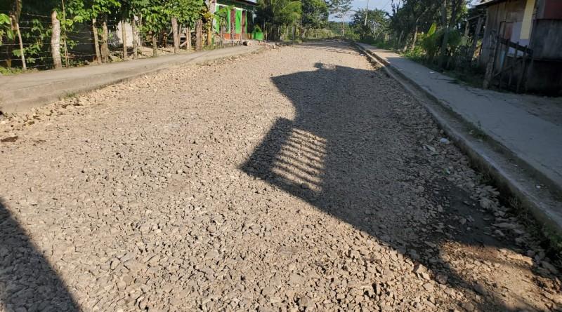 Mejoras en  calle  del barrio  Julio Cuaresma en Matiguás.