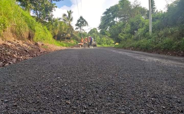 Camino en el sector  Papayo #1 en Waslala.