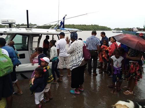 Evacuación en Costa Caribe Norte