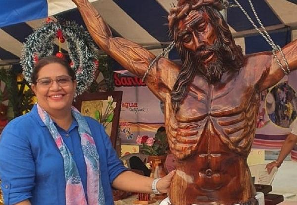 Una muestra de la artesanía  expuesta en el certamen nacional en Rivas