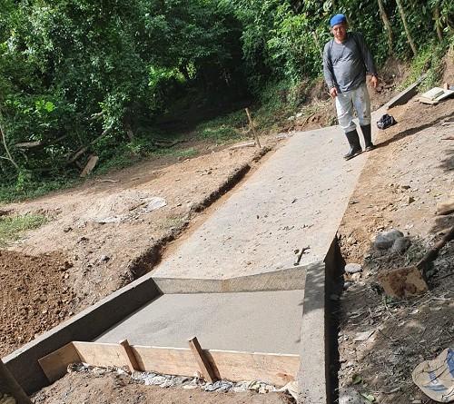 Mozonte: Construcción de dos vados en la comunidad El Caracol.