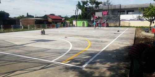 En Chichigalpa: Construcción y mejoras  en dos canchas
