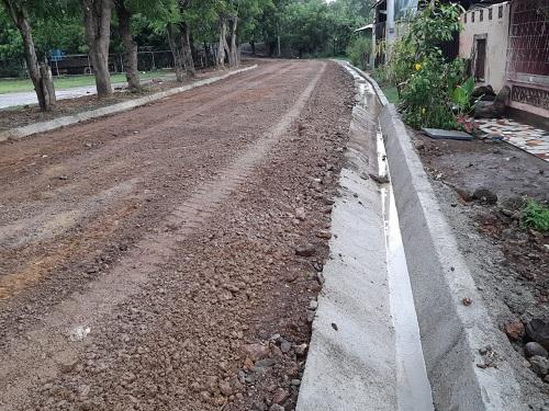 Condega: construcción de 528 metros lineales de cunetas en el Barrio Francisco Luis Espinoza.