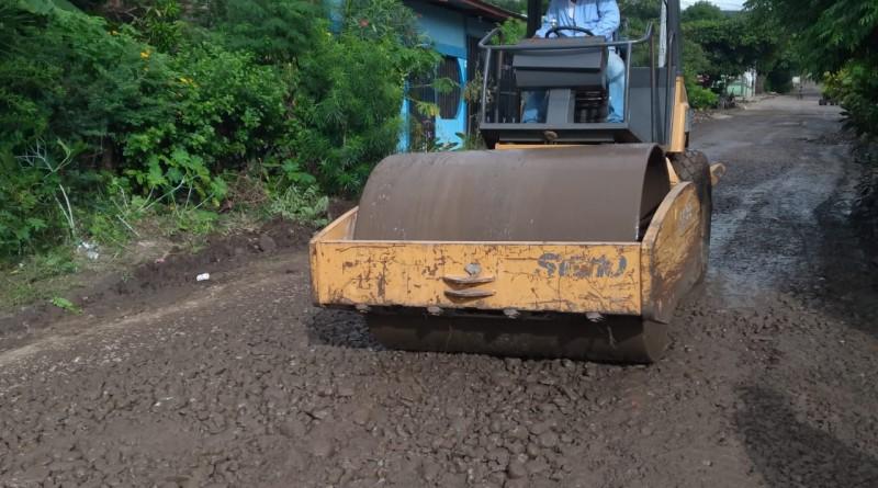 Sébaco: Este fin de semana trabajos acelerados en la rehabilitación de calles locales.