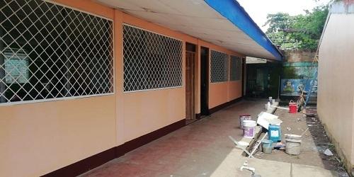Mejoras de centro escolar en Chichigalpa.