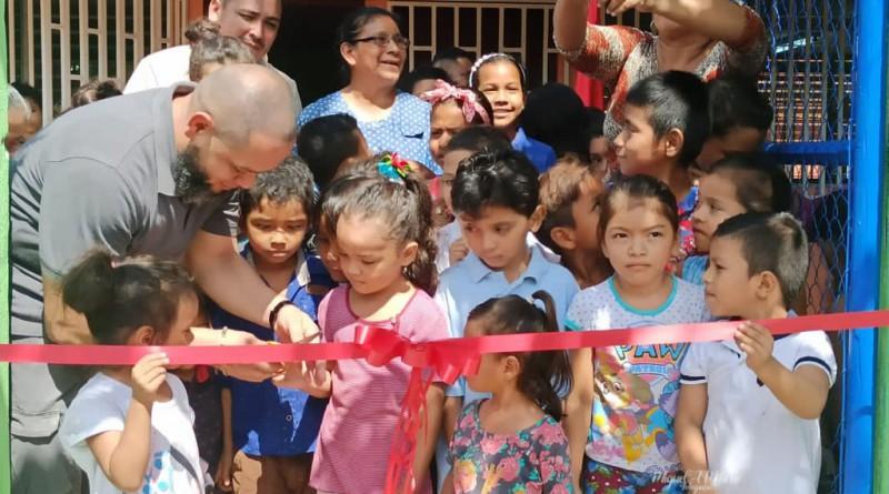 Chichigalpa: Inauguración de mejoras en el preescolar del Reparto Wells con apoyo del hermanamiento Wells