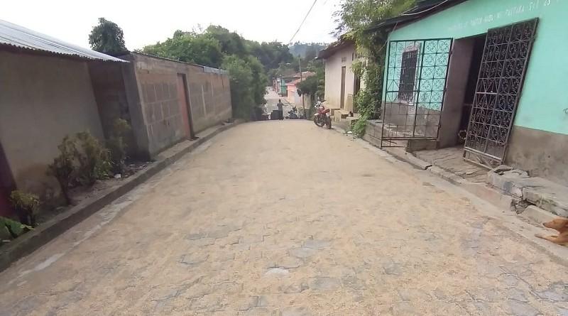 Cuatro calles se construyeron enEl Jícaro en los barrios Enríquez López, Miguel Ríos y Carlos Rosales