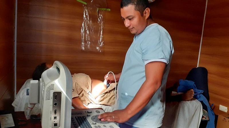 Atención especializada en clínica móvil  en Caribe Norte
