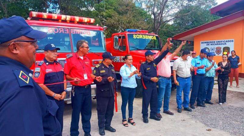 La estación de bomberos de Achuapa recientemente inaugurada