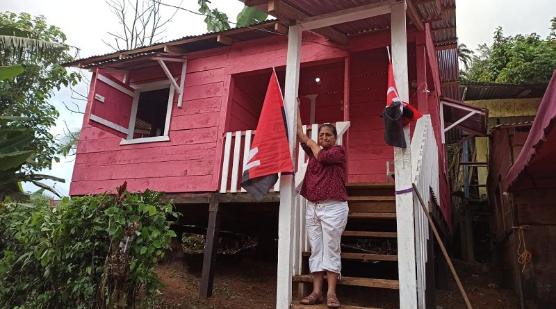 En inauguración de casa en Bonanza alegría compartida con la comunidad