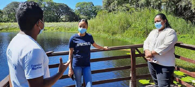 Representante de La UNESCO  visita Geoparque Río Coco