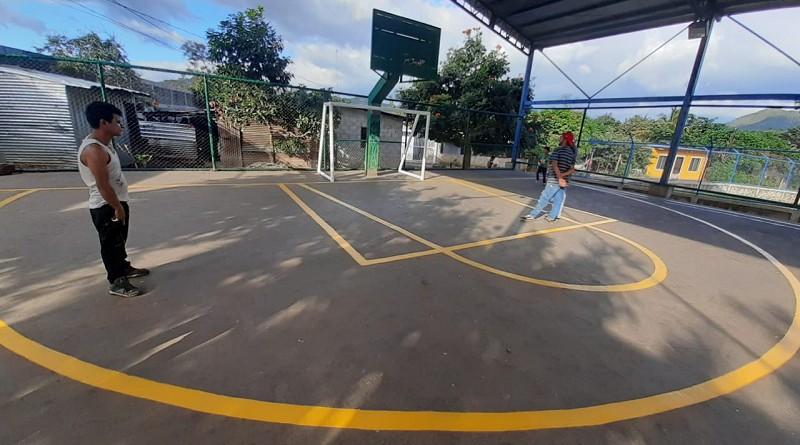 En Matagalpa;Cancha mejorada en el barrio Salvador Mendoza