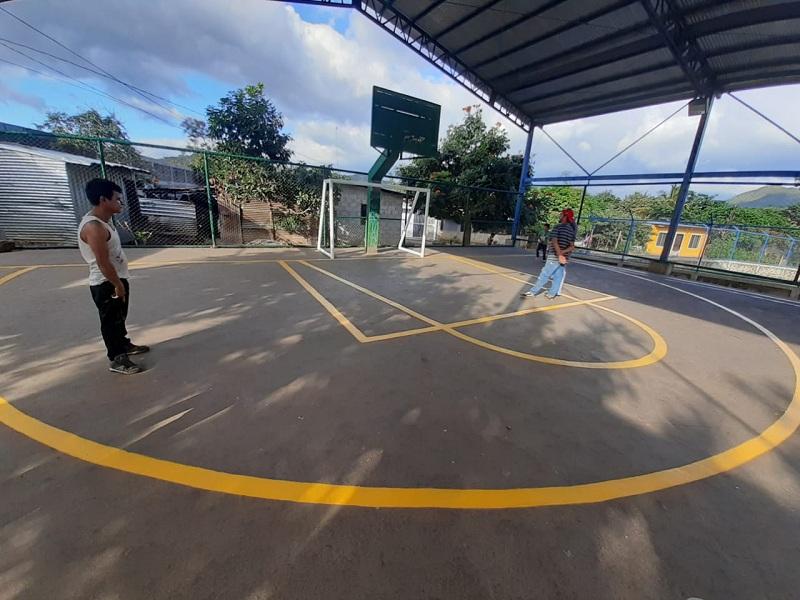 Cancha en el barrio Solingalpa en Matagalpa