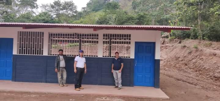 Centro escolar restaurado en la comunidad Guayabo Kubaly en Waslala.