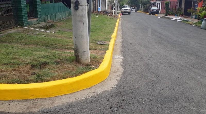 En San Juan del Sur, las obras son tres calles asfaltadas en los barrios Camilo Ortega y Luis Arroyo