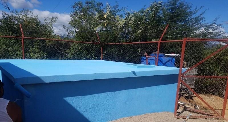 En Mozonte, el gobierno local mejoró el sistema de agua potable en la comunidad Apamiguel.