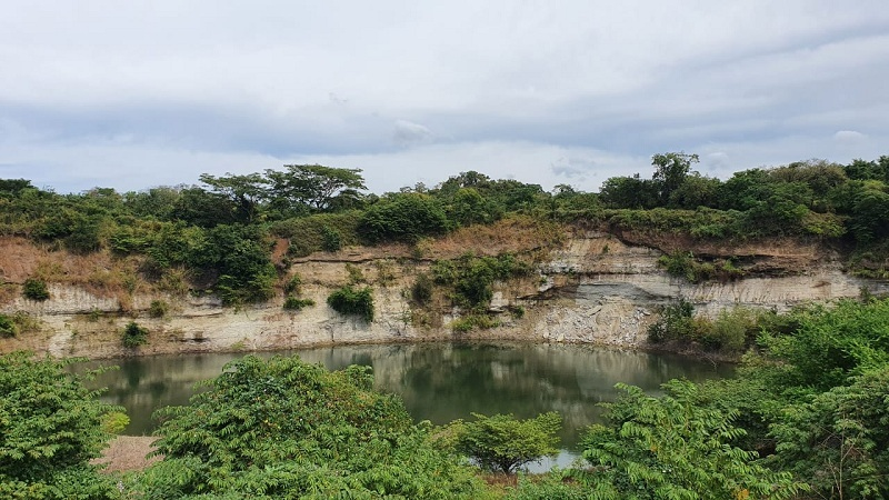 Una de als cinco lagunas en la reserva natural