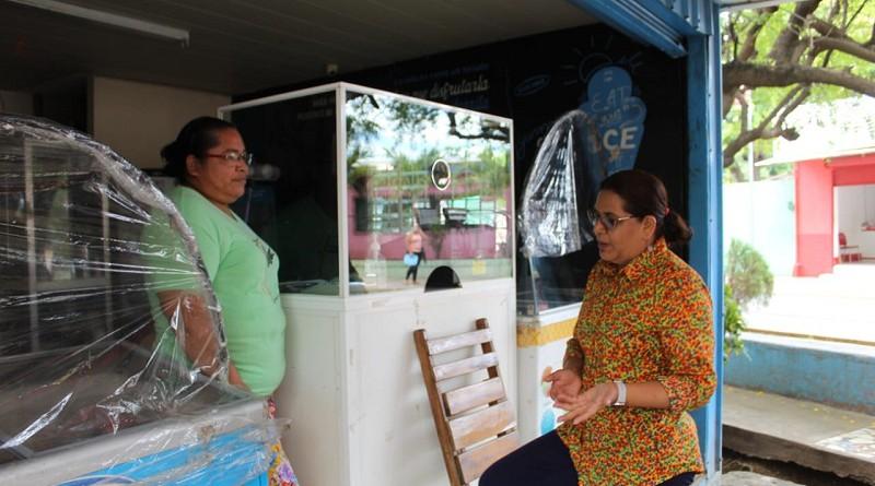 Una heladería en el parque Hugo Chávez
