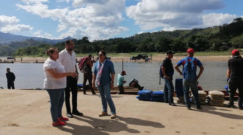 Una agradable visita   a emprendedores de pequeños negocios y a Puerto Bello  hace presidenta del Inifom en Wiwilí – Jinotega