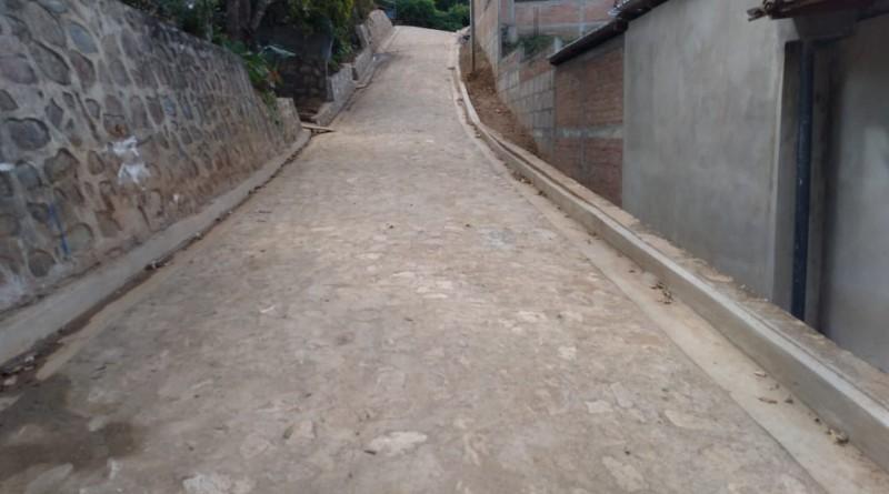 Calle en el barrio enrique López