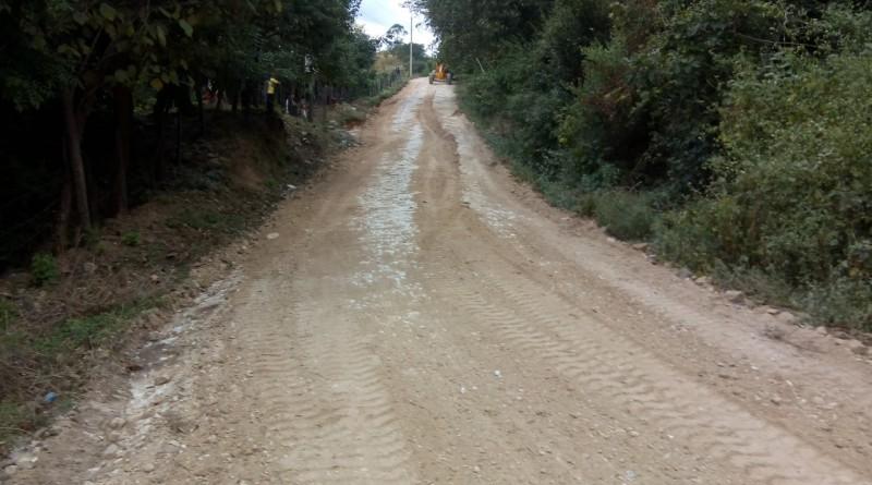 Reparación de caminos en las comunidades La Flor, El Guasimal, El Nancital # 2, Río Negro, Las Marías y El Ojochal que juntos totalizan 35 kilómetros en San Francisco del Norte.