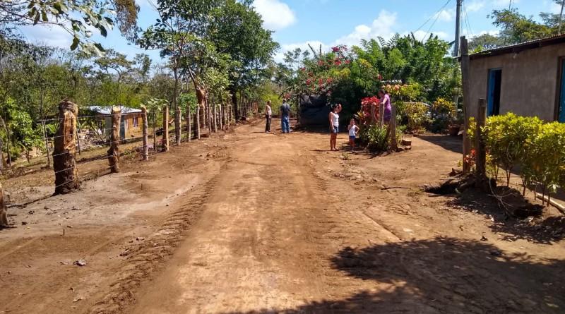 En La Paz,Carazo, la restauración fue en tres kilómetros en la comunidad San Diego #2.