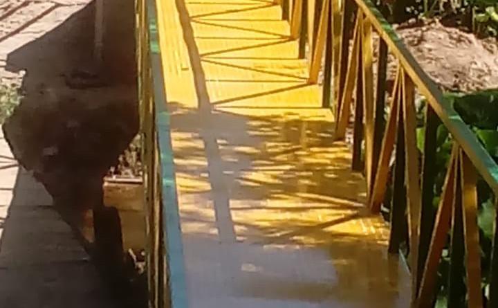 Puente peatonal en Matagalpa