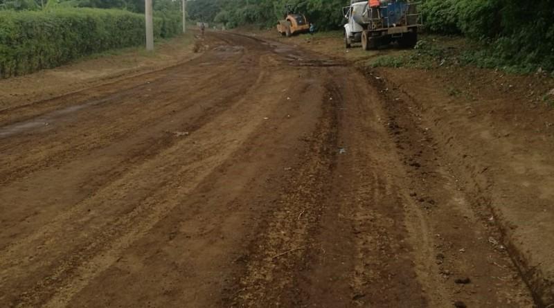 San Rafael del Sur: Restauró 7 Km en las comunidad Los Chepeños y Los Velásquez.